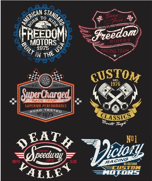 Motorcycle Labels Art vector