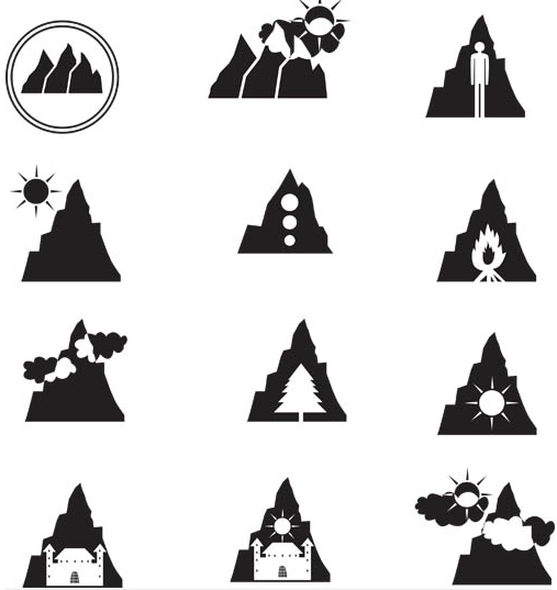 Mountain Logo Templates vector set