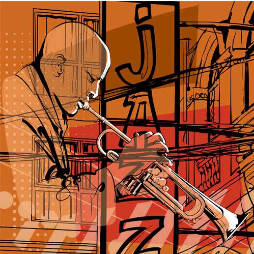 Music Backgrounds Mix 2 vectors graphic