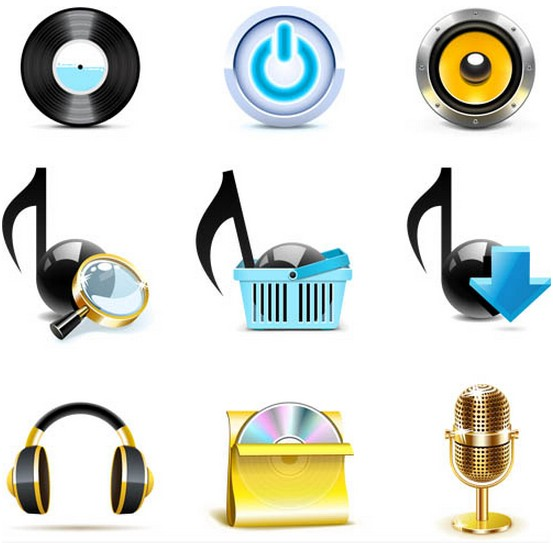 Music Icons graphic vector graphics