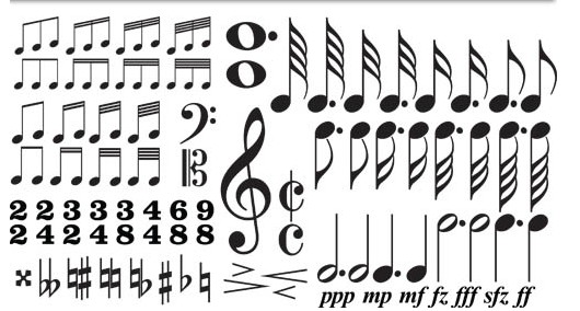 Music Notes and Symbols vector