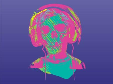 Music Zombie vector
