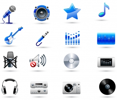 Music icons collections creative vector