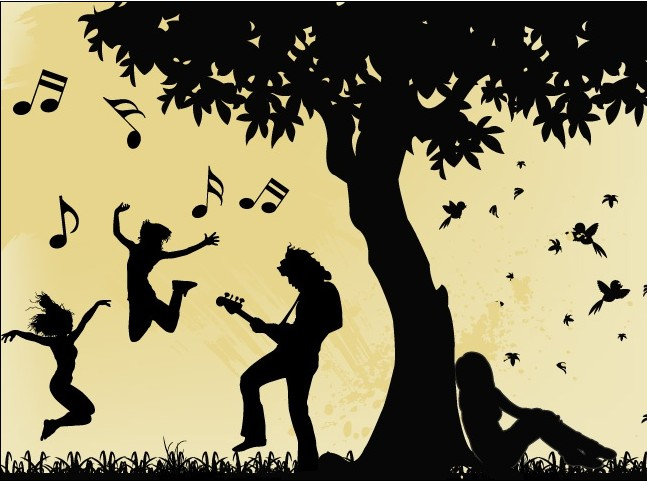 Musician Silhouette vector graphics