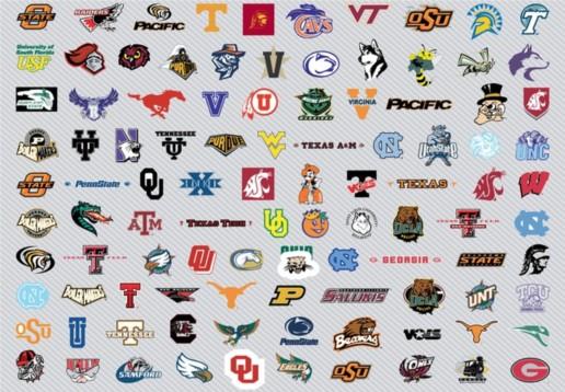 NCAA Mens Basket Logos set 2 vector