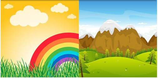 Natural Backgrounds 8 vectors material