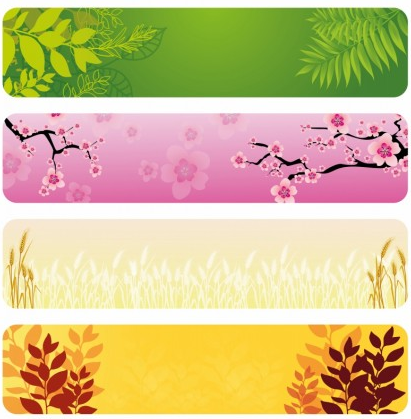 Natural Banners free vectors graphic