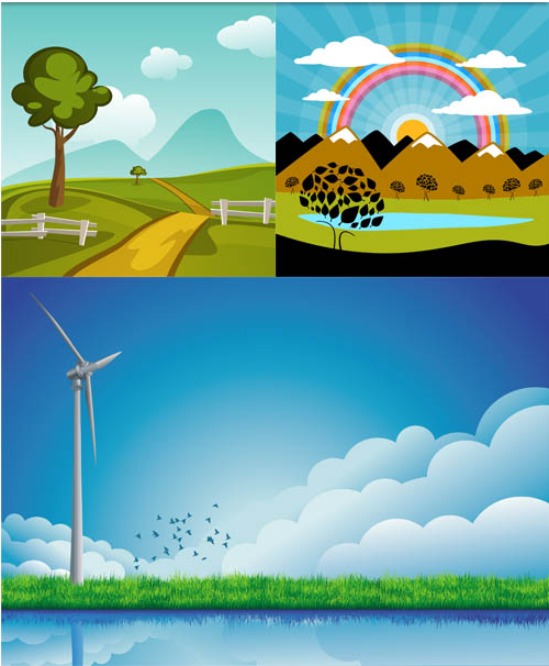 Nature Backgrounds 9 vector