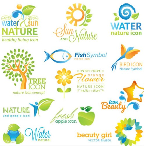 Nature Color Logo design vector