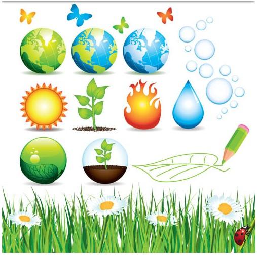 Nature Elements vectors