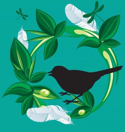 Nature bird vectors material