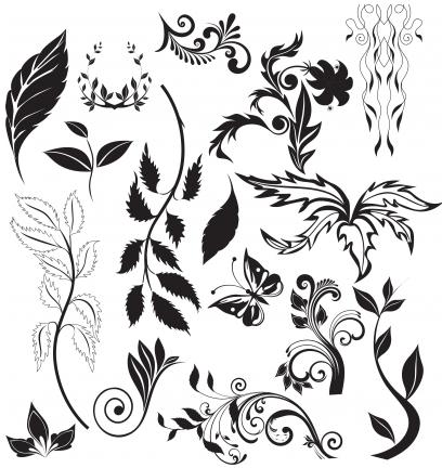 leaves ornaments elements vectors free download leaves ornaments elements vectors free