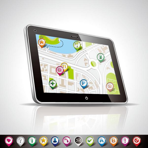 Navigation map 2 vector