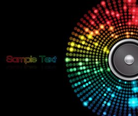 Neon light cricle with black background vector