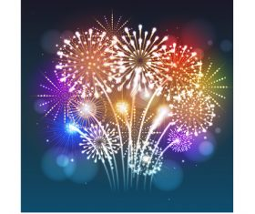 New year festvial firework background vector material