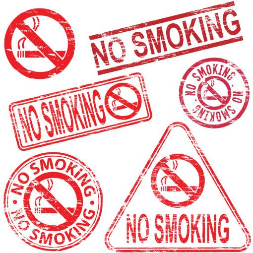No Smoking Labels Mix vector design