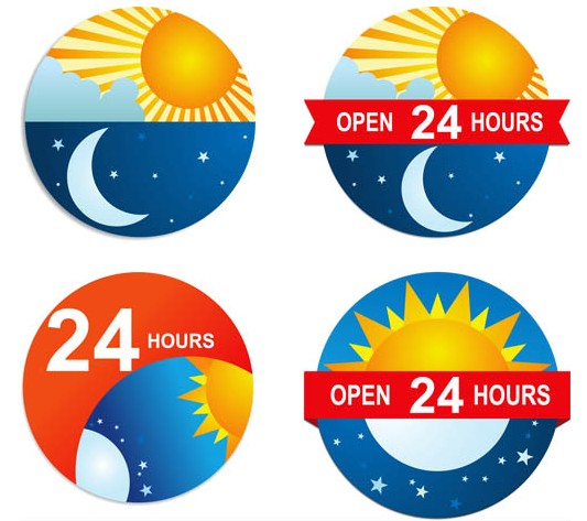 Non Stop Labels vector