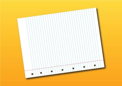 Notebook Page shiny vector