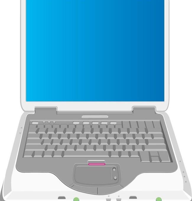 Notebook computer design vector