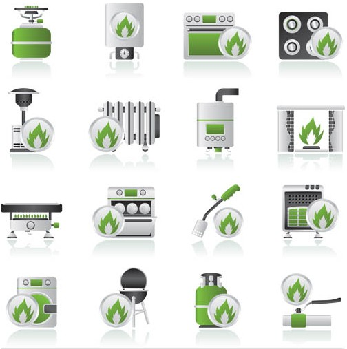 Objects on biofuels creative vector