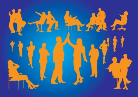 Office Silhouettes vector