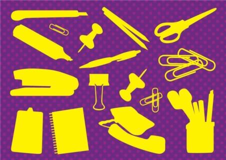 Office Supplies set vector