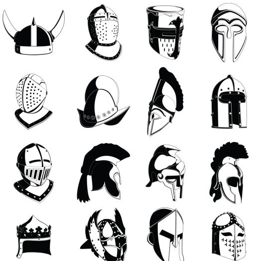 Old Helmets free vector design
