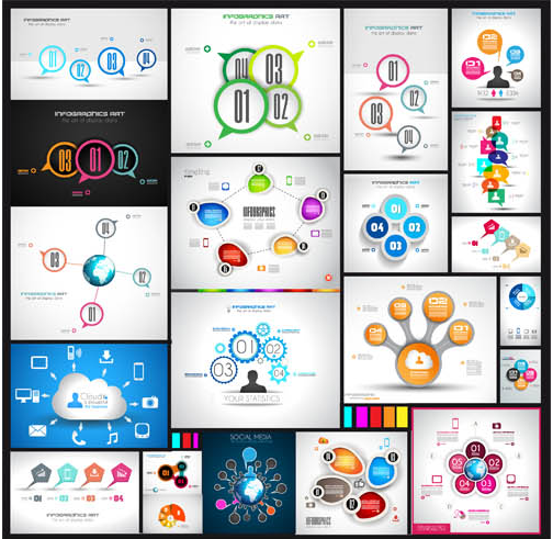 Option Infographics Elements 7 vector graphic