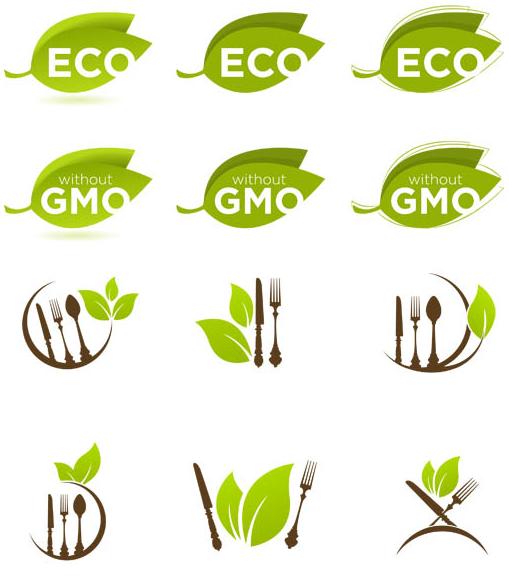 Organic Food Symbols vectors graphic