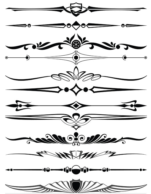 Ornament Borders Elements 13 vectors graphics