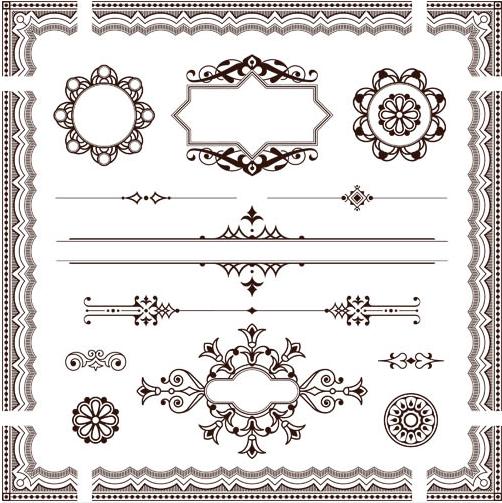 Ornament Borders Elements 19 vector