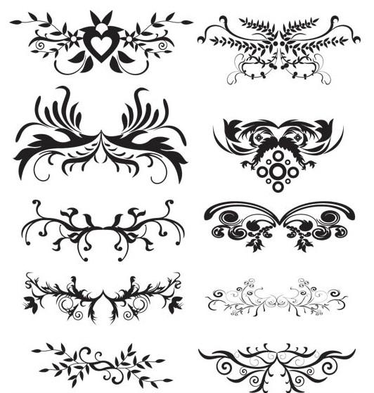 Ornament Borders Elements 5 vector