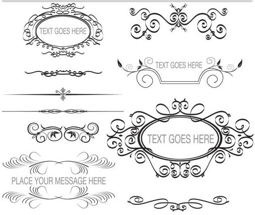 Ornament Borders Elements 7 design vectors