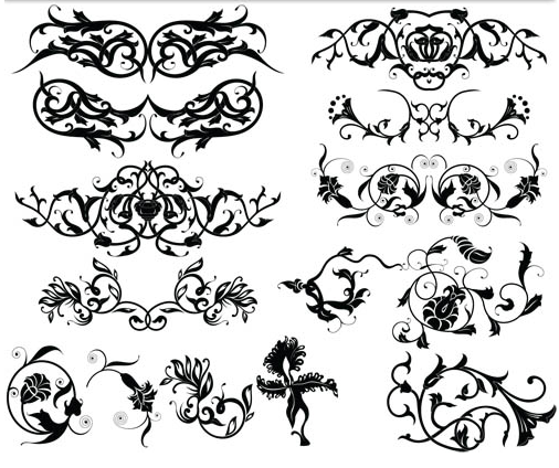 Ornament Borders Elements 9 vector