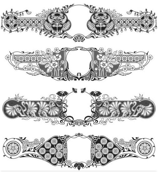 Ornament Borders Elements art vector