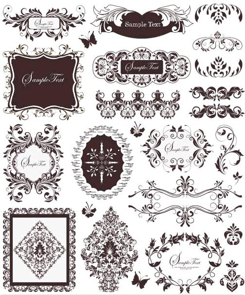 Ornamental Borders Elements 9 Illustration vector