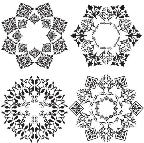 Ornamental Circle Elements vectors material