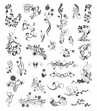 Ornamental Design Elements shiny vector