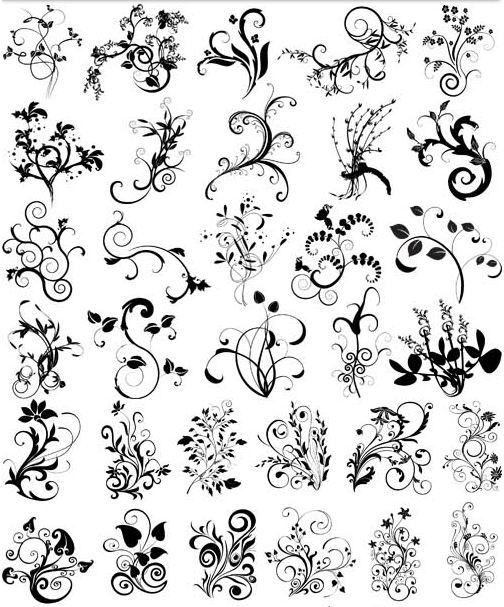 Ornamental Floral Elements 10 vector