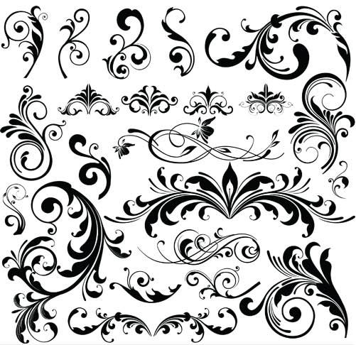 Ornamental Floral Elements 12 vector