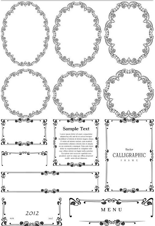 Ornamental Frames 3 set vector