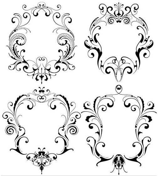 Ornamental Frames 6 vector