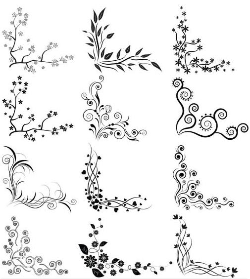 Ornamental Vintage Corners 14 shiny vector