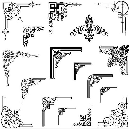 Ornamental Vintage Corners 16 vector
