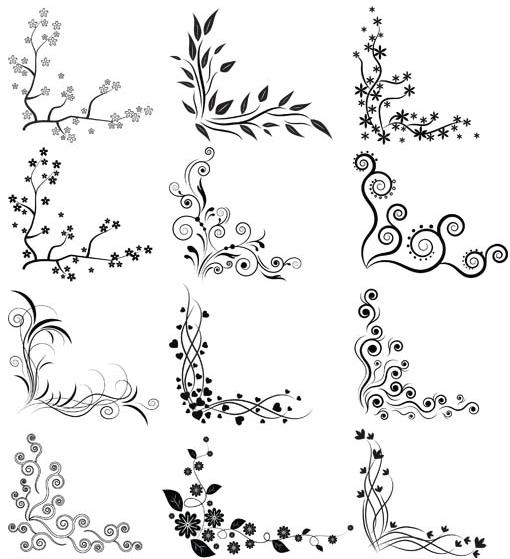 Ornamental Vintage Corners 6 vector design