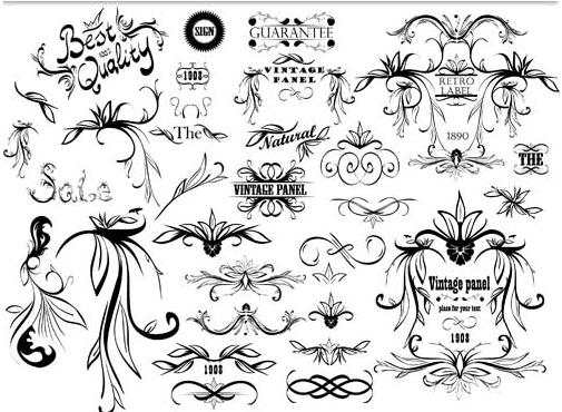 Ornamental Vintage Elements 11 vectors graphics