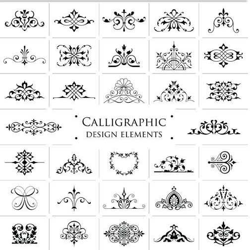 Ornamental Vintage Elements 8 vector