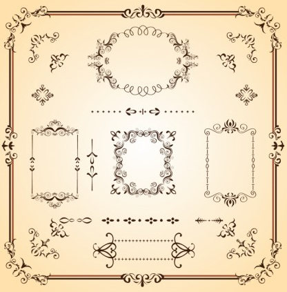 Ornate Borders and Scrolls vector