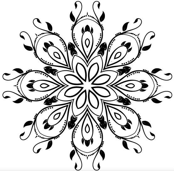 Ornate Decorative Element set vector