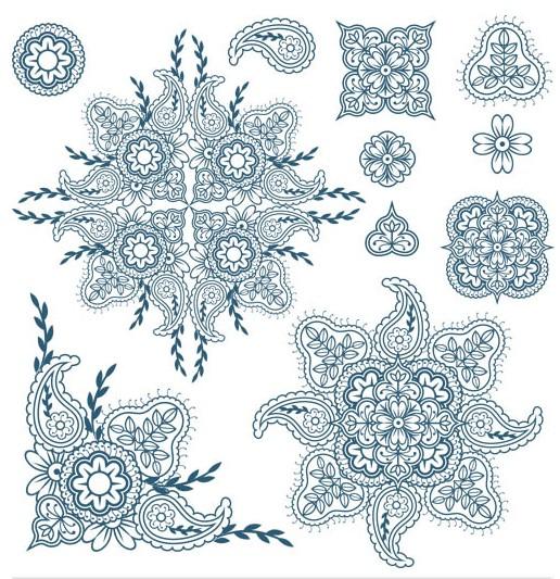 Ornate Floral Elements (Set 17) vector graphics
